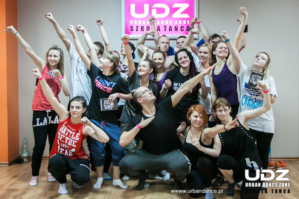 UDZ - Tańcz w Wielkim mieście! Relacja z warsztatów Gabriela Francisco w UDZ 29 marca 2014r.